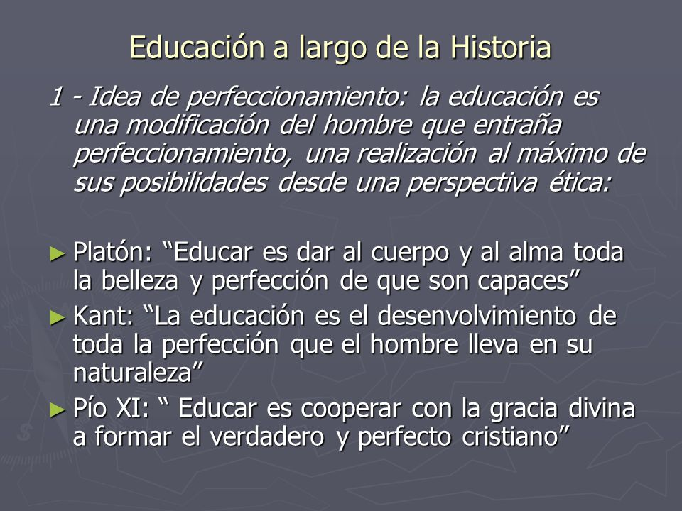 Educación a largo de la Historia