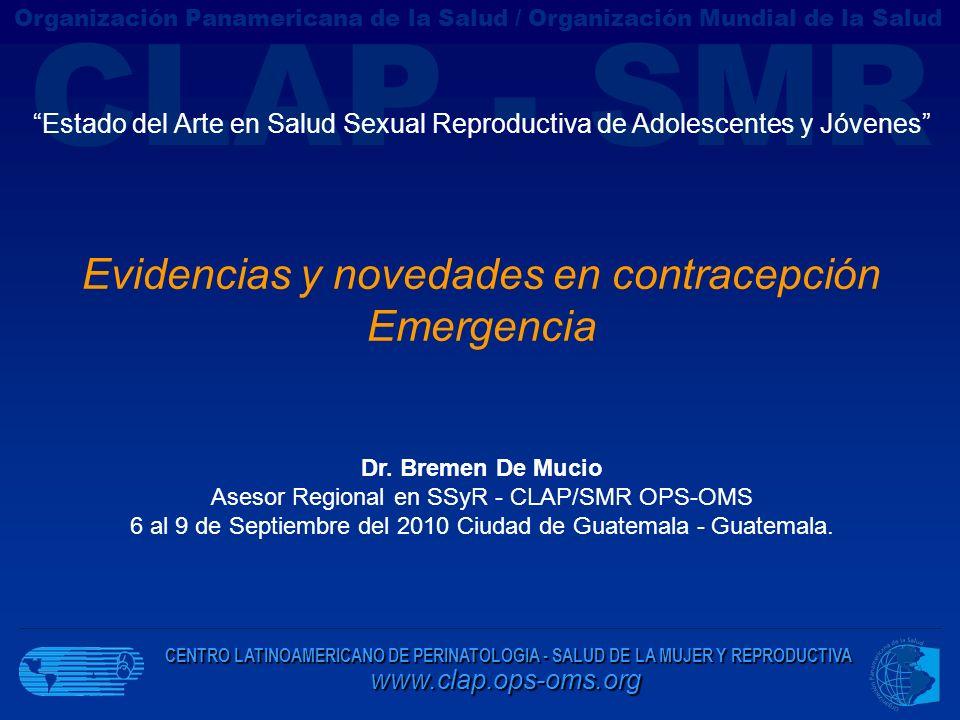 Evidencias y novedades en contracepción Emergencia