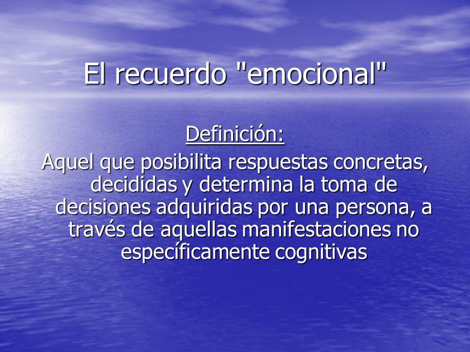 El recuerdo emocional Definición:
