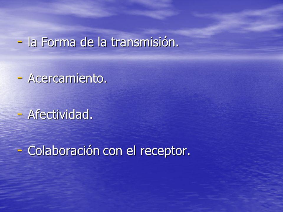 la Forma de la transmisión.