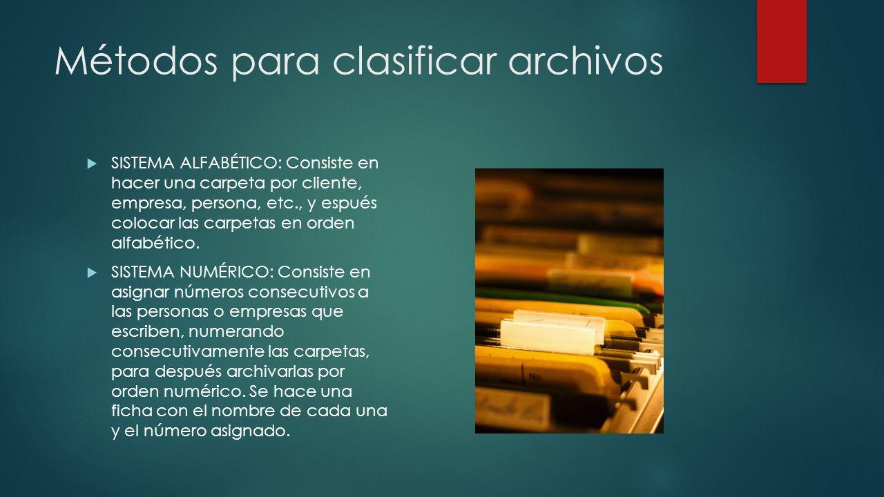 Métodos para clasificar archivos