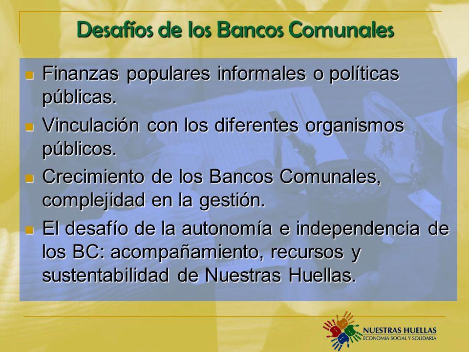Desafíos de los Bancos Comunales
