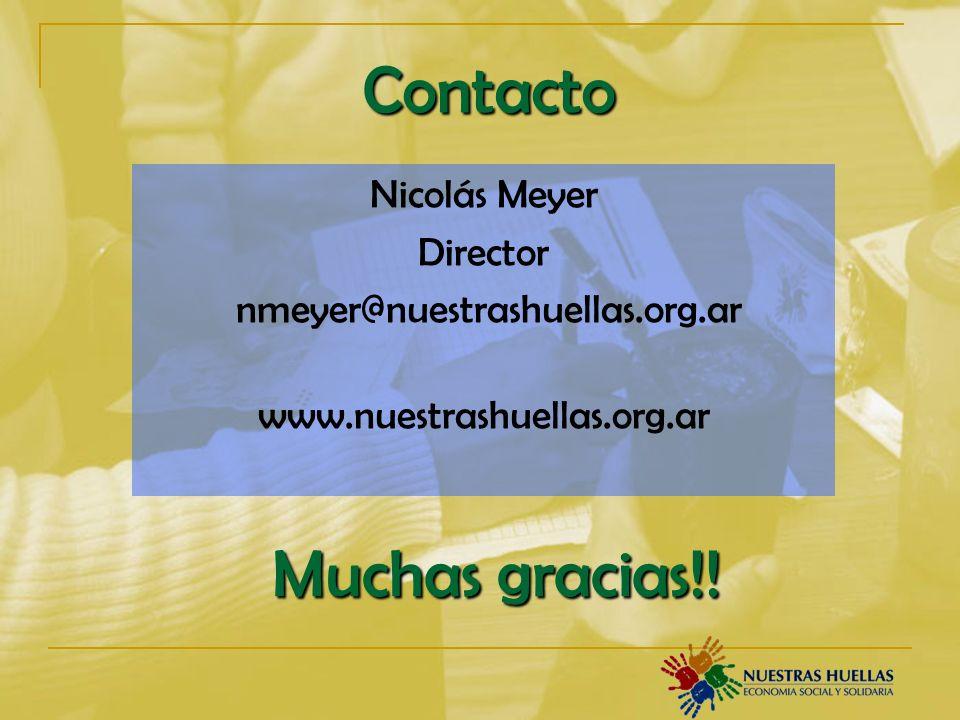 Contacto Muchas gracias!! Nicolás Meyer Director