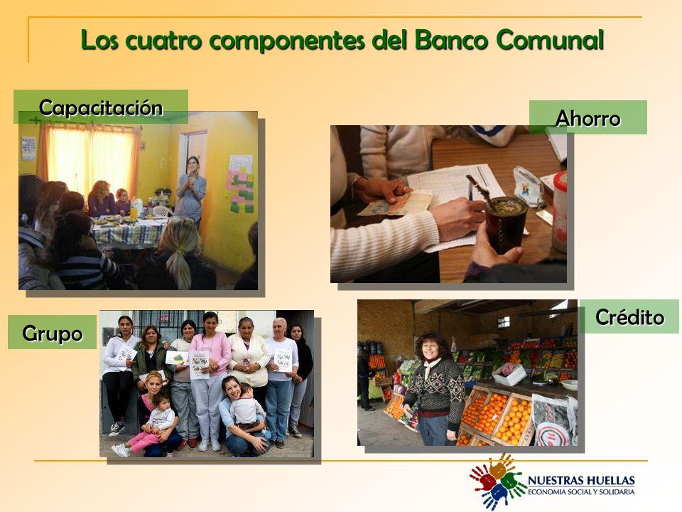 Los cuatro componentes del Banco Comunal