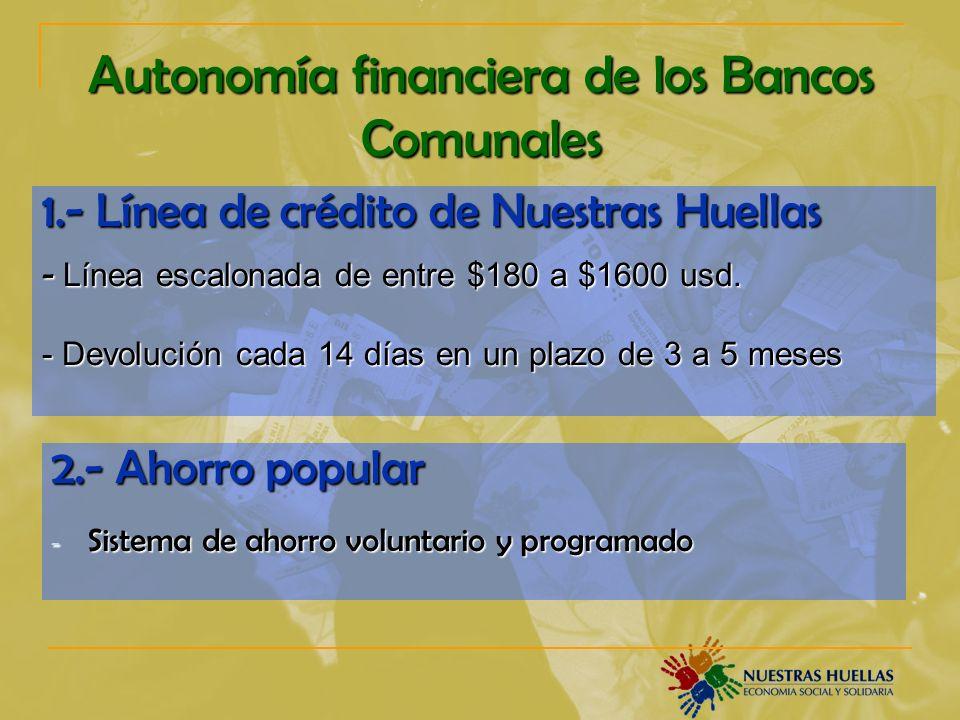 Autonomía financiera de los Bancos Comunales