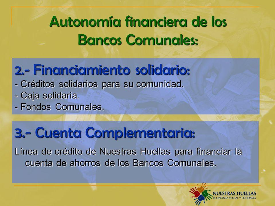 Autonomía financiera de los Bancos Comunales: