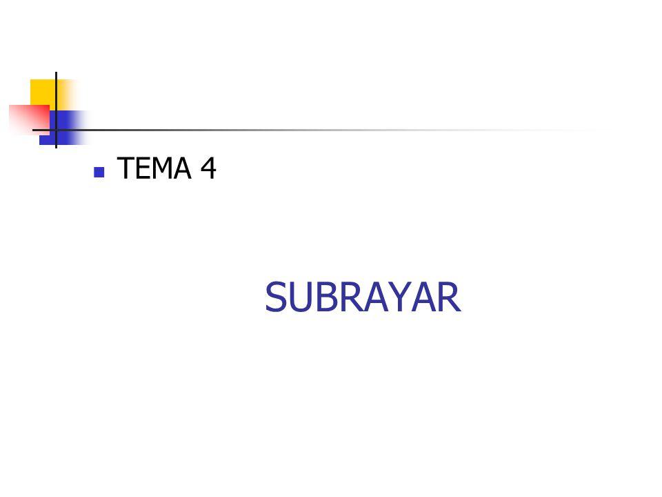 TEMA 4 SUBRAYAR