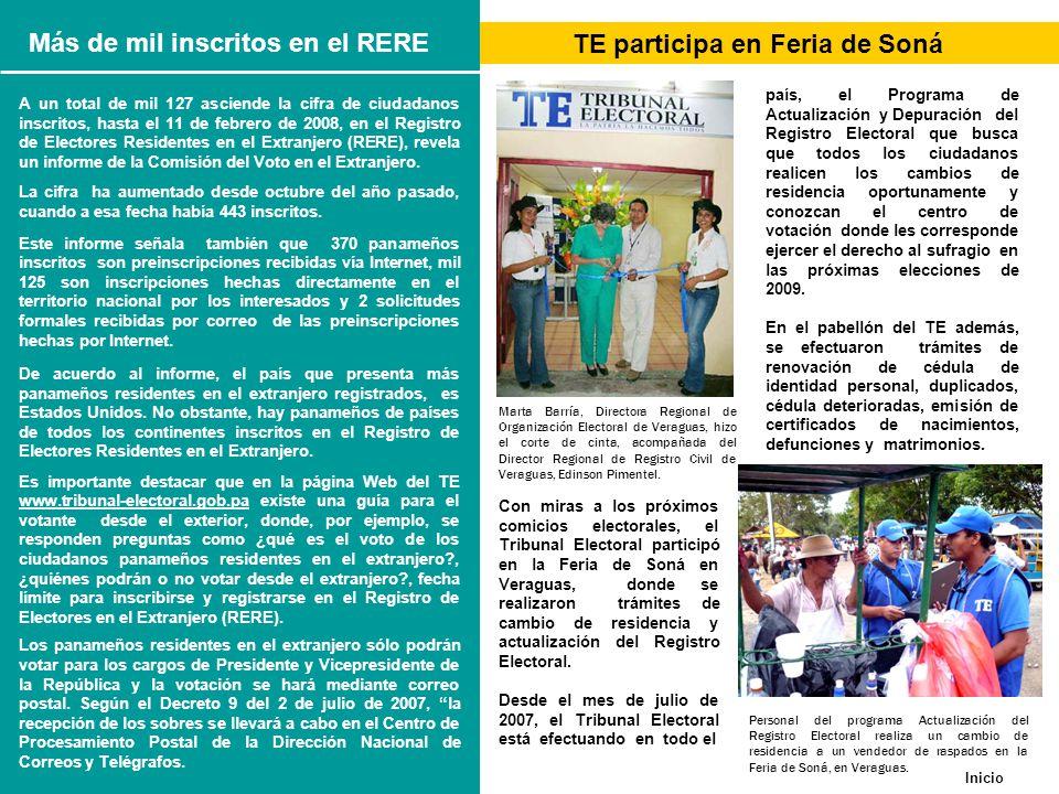 Más de mil inscritos en el RERE TE participa en Feria de Soná