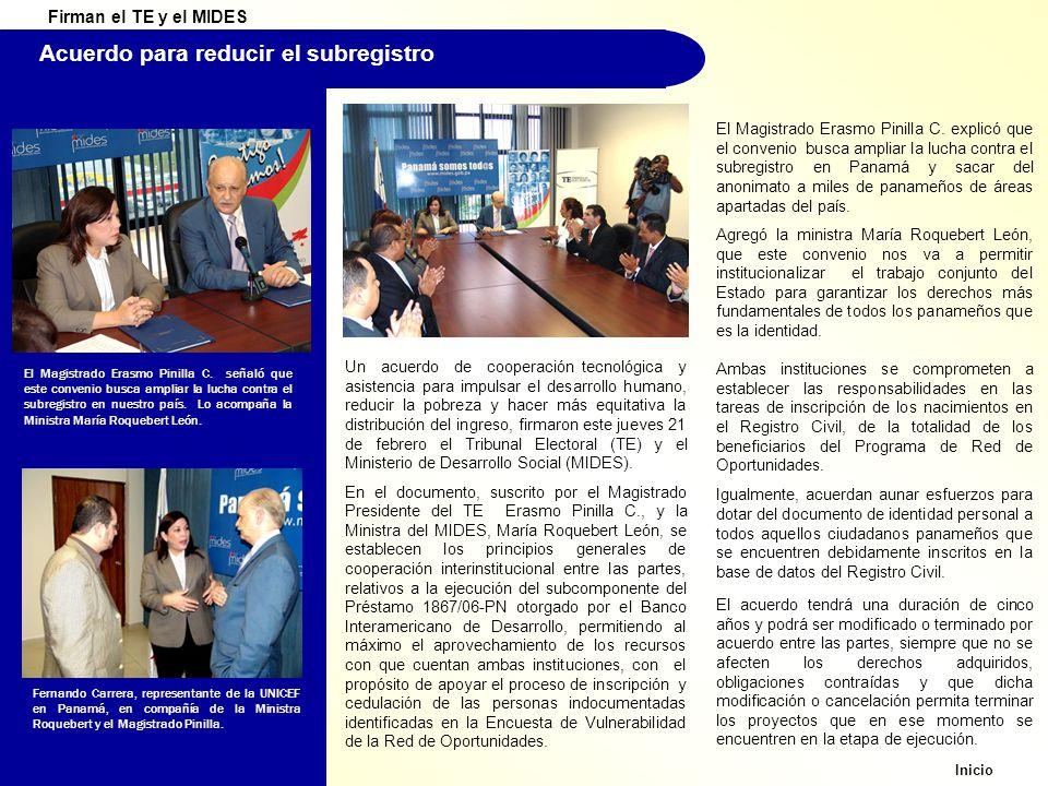 Acuerdo para reducir el subregistro