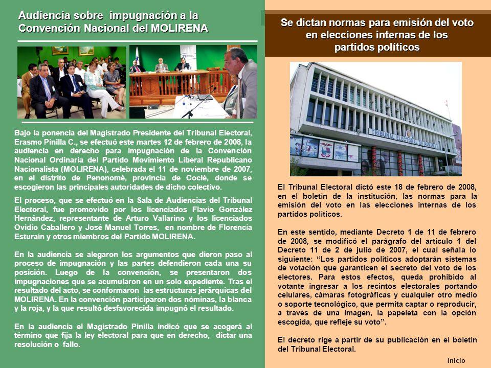 Se dictan normas para emisión del voto en elecciones internas de los