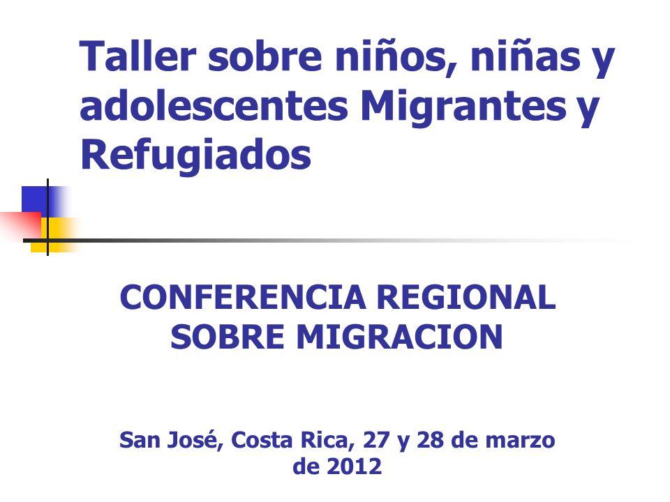 Taller sobre niños, niñas y adolescentes Migrantes y Refugiados