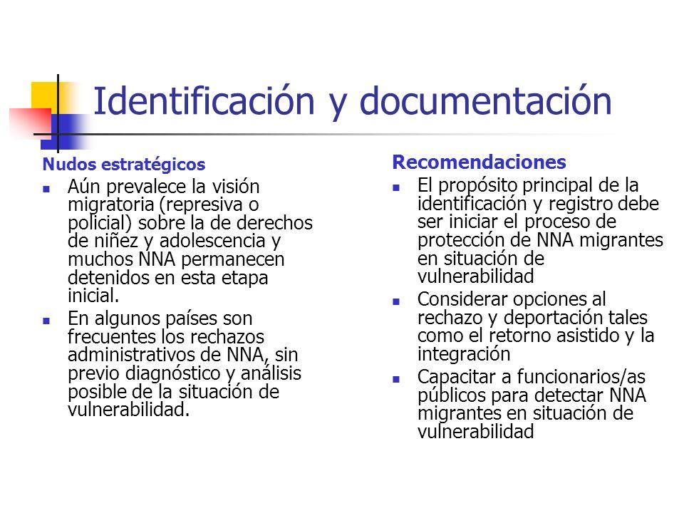 Identificación y documentación