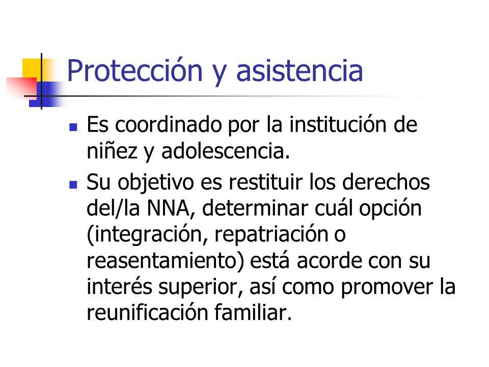 Protección y asistencia