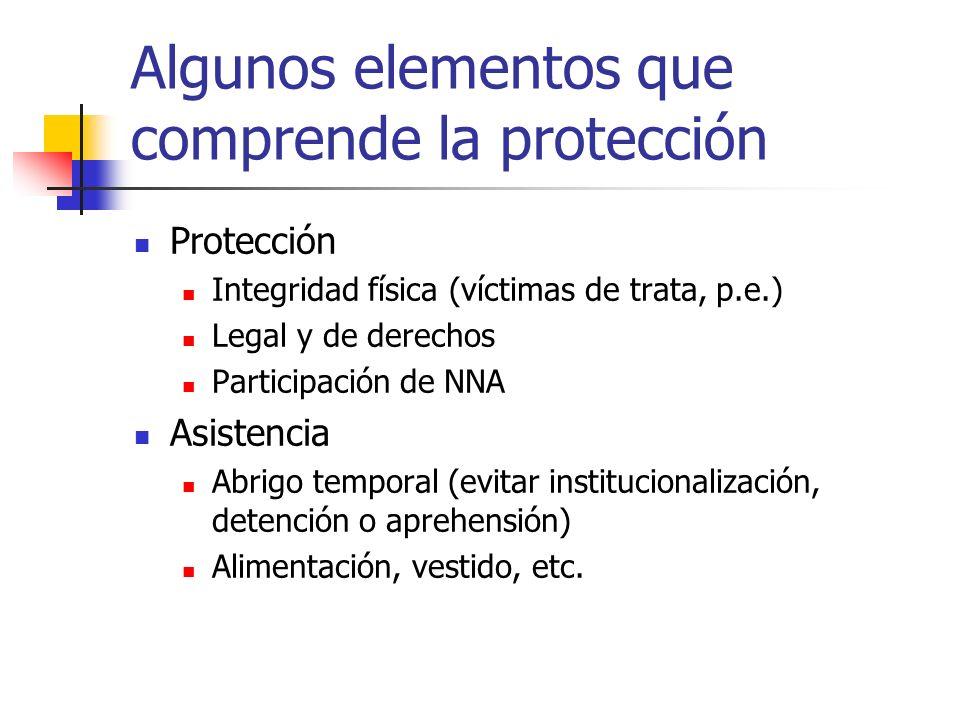 Algunos elementos que comprende la protección