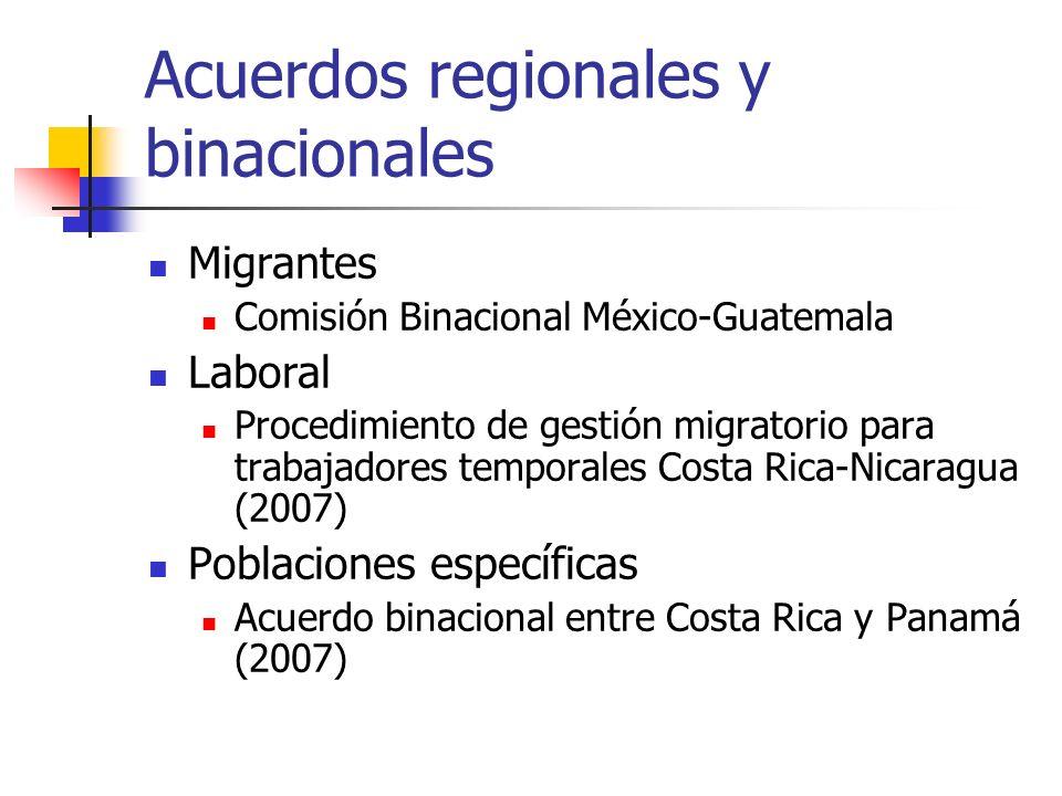 Acuerdos regionales y binacionales
