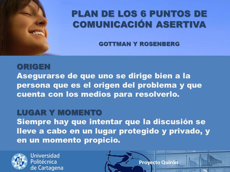 PLAN DE LOS 6 PUNTOS DE COMUNICACIÓN ASERTIVA
