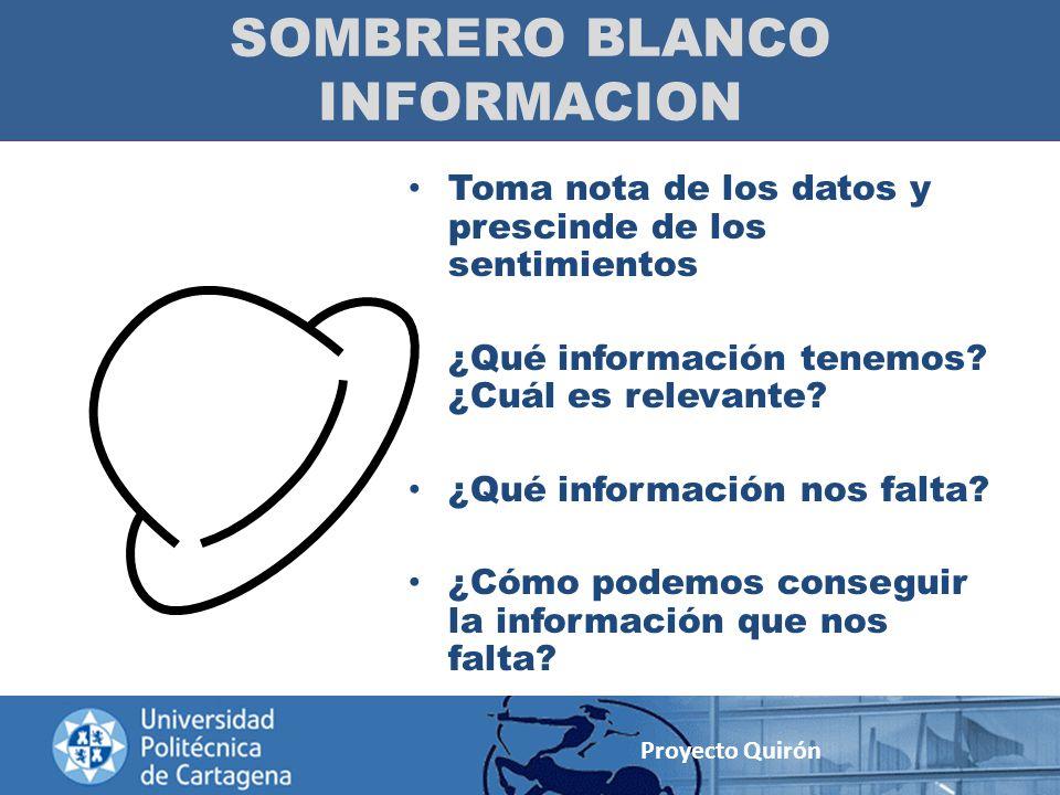 SOMBRERO BLANCO INFORMACION