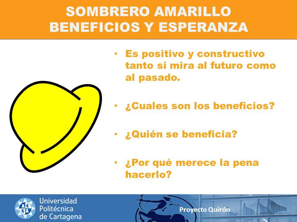 SOMBRERO AMARILLO BENEFICIOS Y ESPERANZA