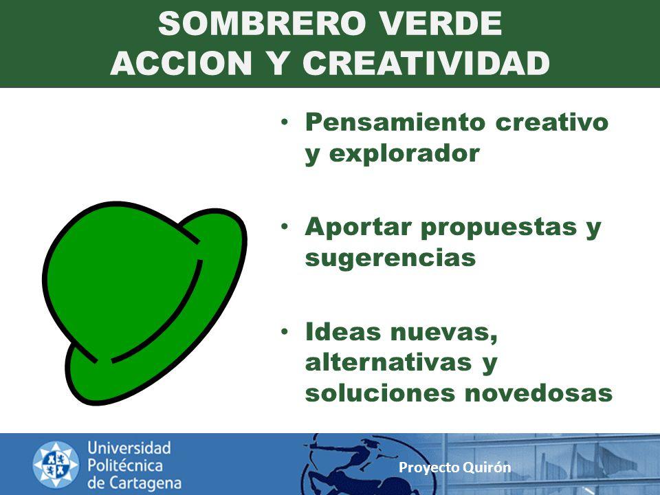 SOMBRERO VERDE ACCION Y CREATIVIDAD
