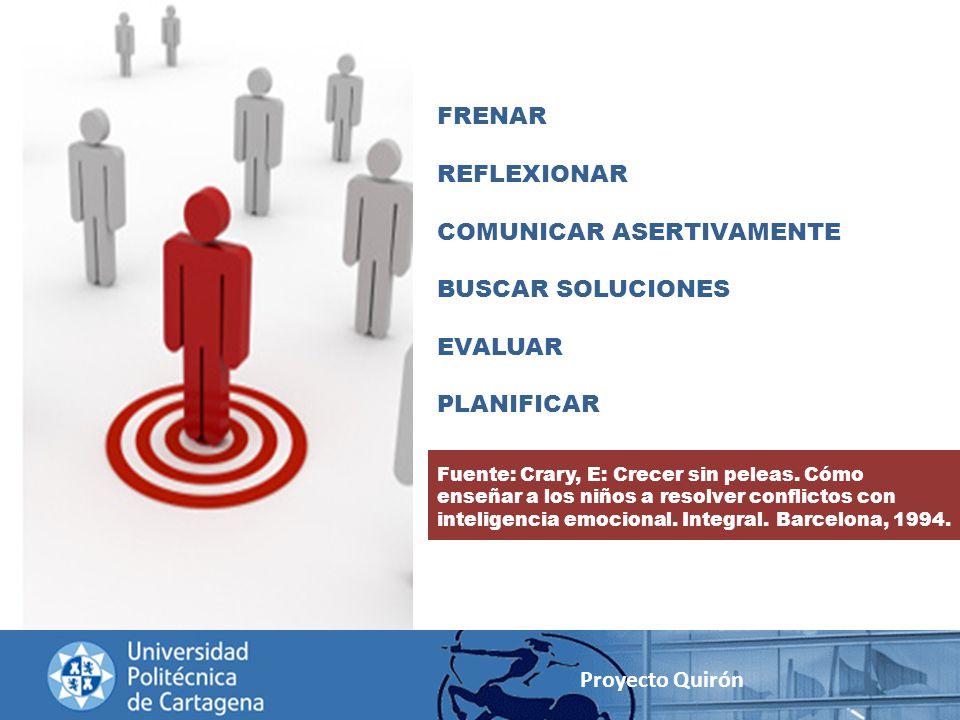 COMUNICAR ASERTIVAMENTE BUSCAR SOLUCIONES EVALUAR PLANIFICAR