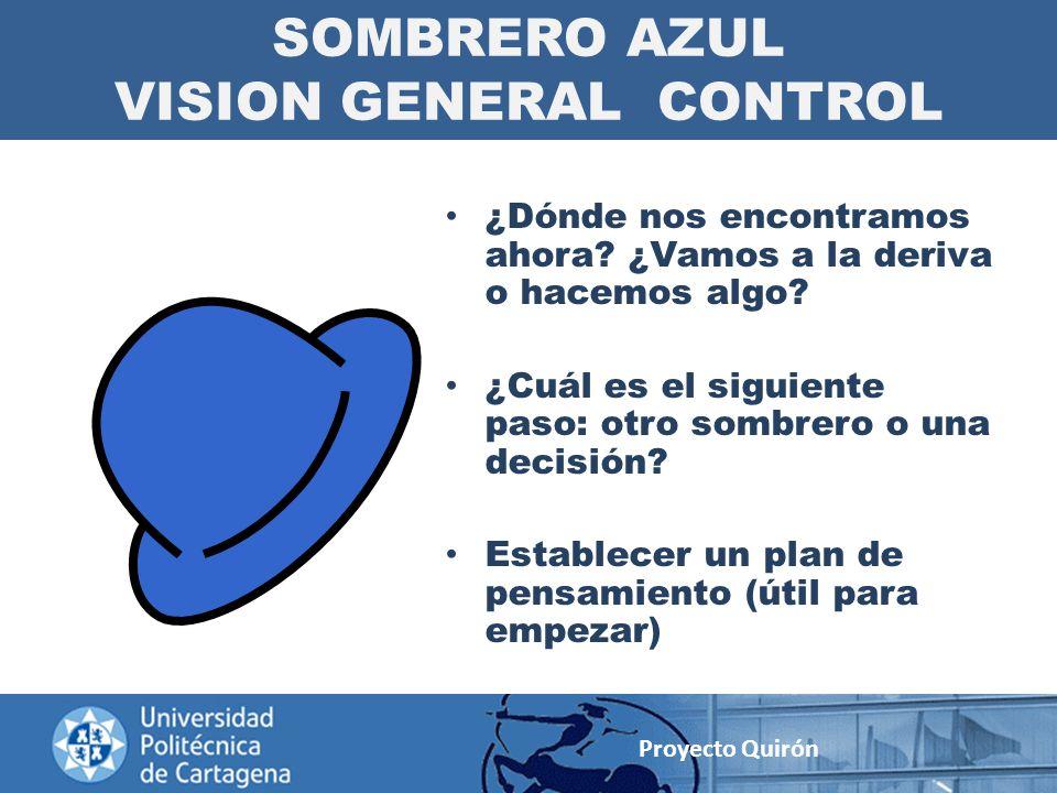 SOMBRERO AZUL VISION GENERAL CONTROL