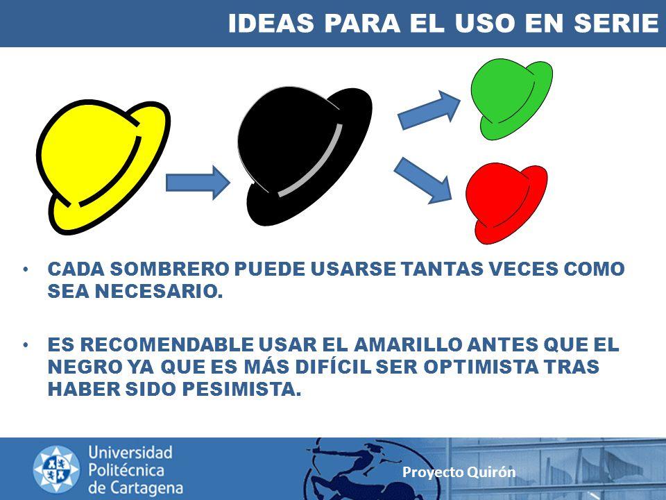 IDEAS PARA EL USO EN SERIE