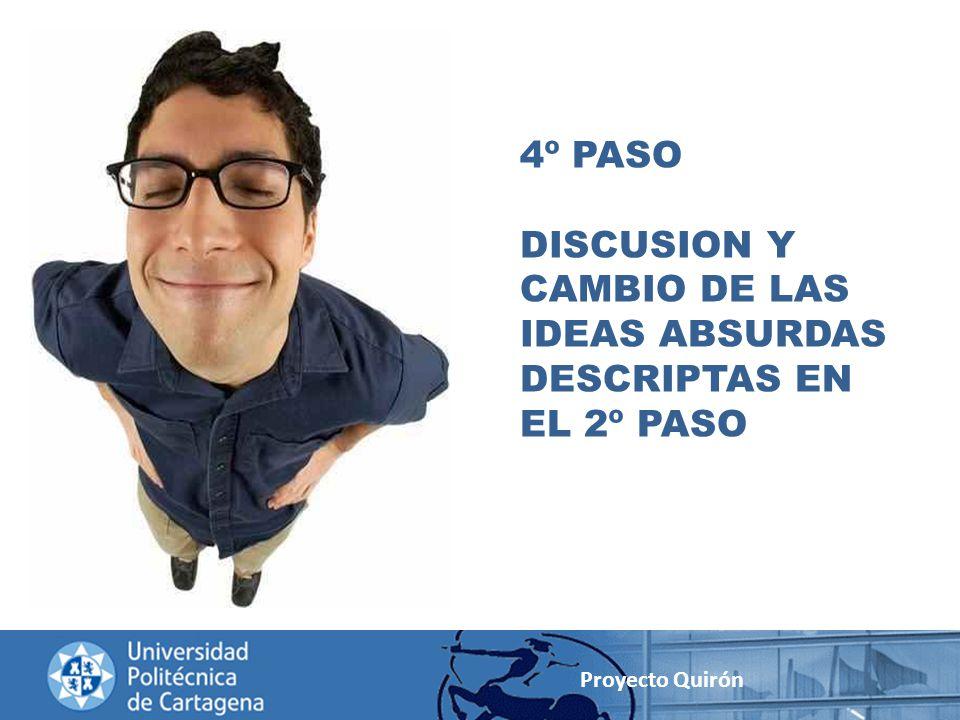 DISCUSION Y CAMBIO DE LAS IDEAS ABSURDAS DESCRIPTAS EN EL 2º PASO