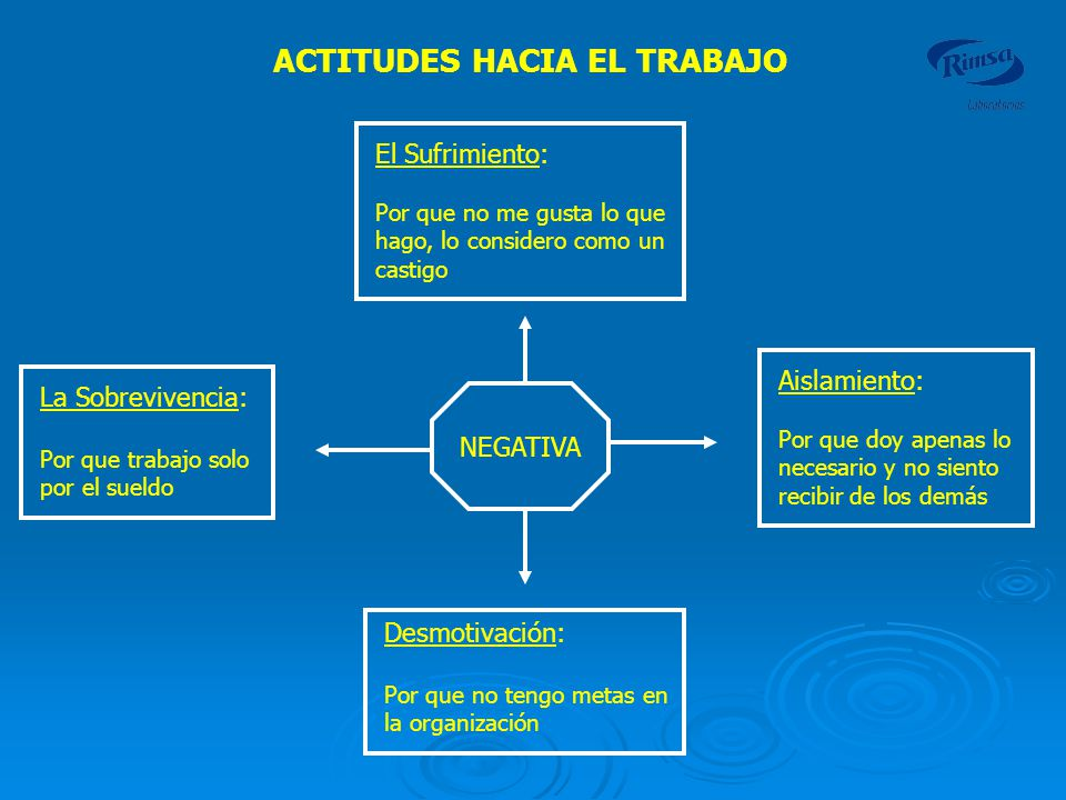 ACTITUDES HACIA EL TRABAJO
