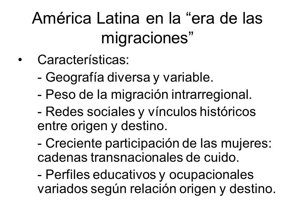 América Latina en la era de las migraciones