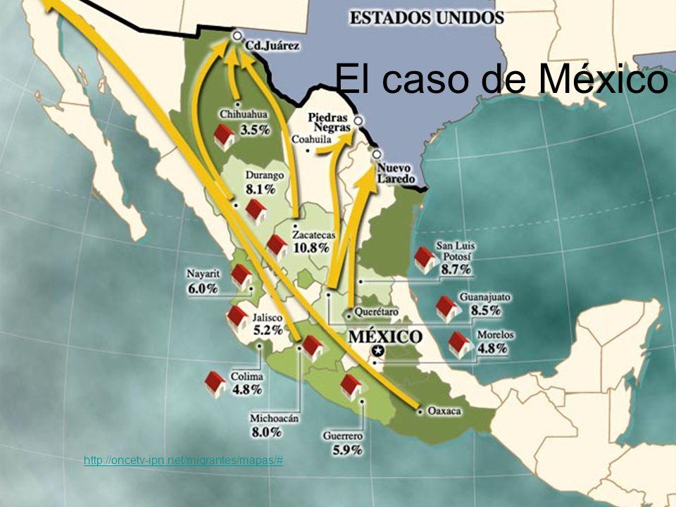 El caso de México http://oncetv-ipn.net/migrantes/mapas/#