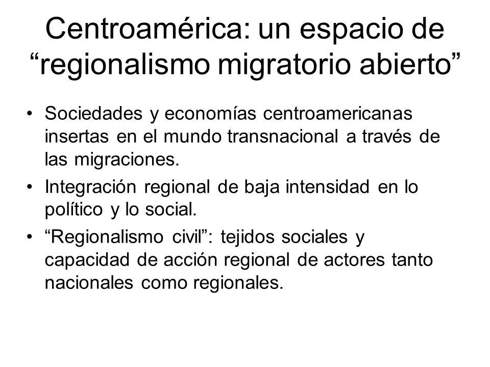 Centroamérica: un espacio de regionalismo migratorio abierto