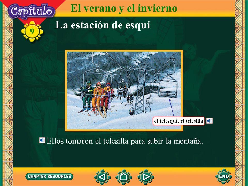 El verano y el invierno La estación de esquí 9