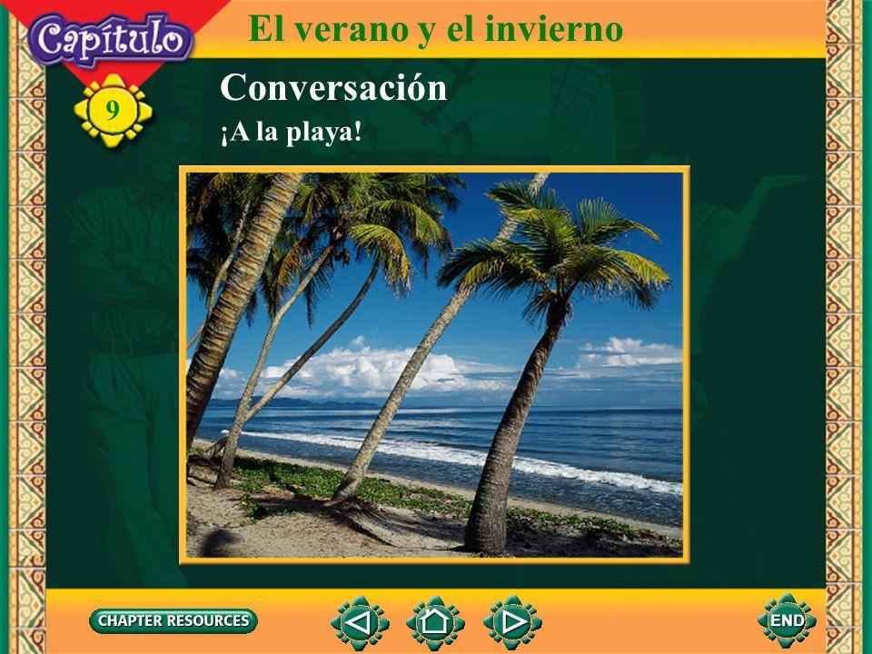 El verano y el invierno Conversación 9 ¡A la playa!