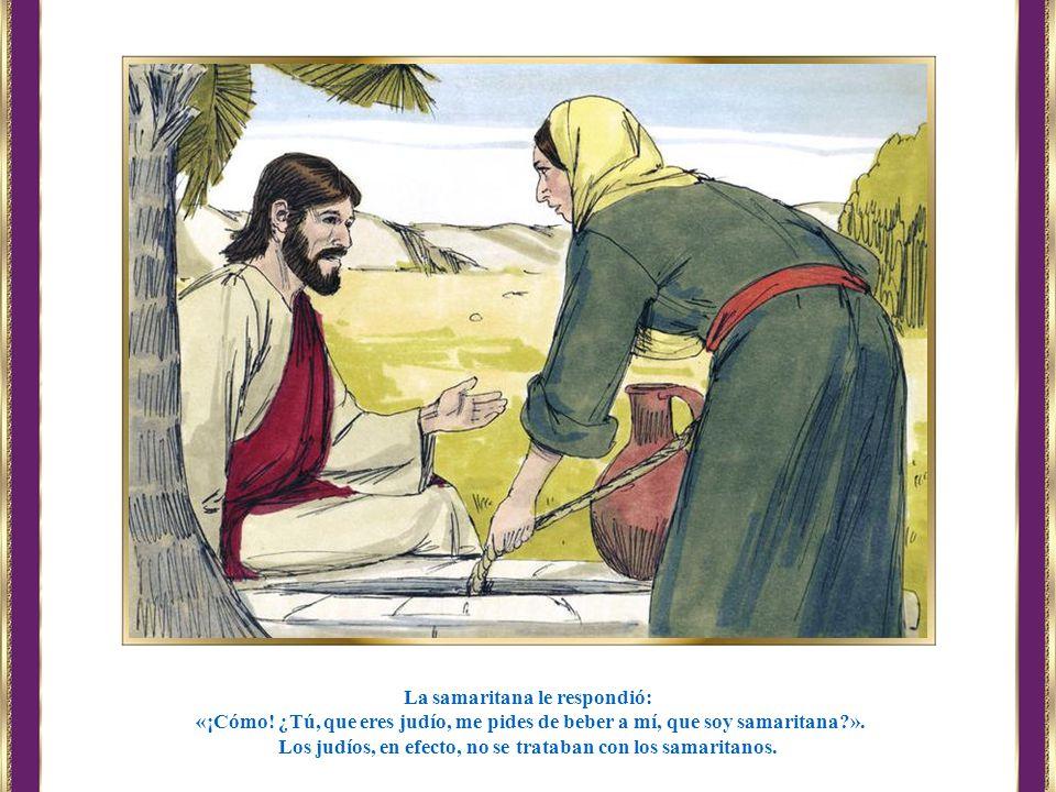 La samaritana le respondió: