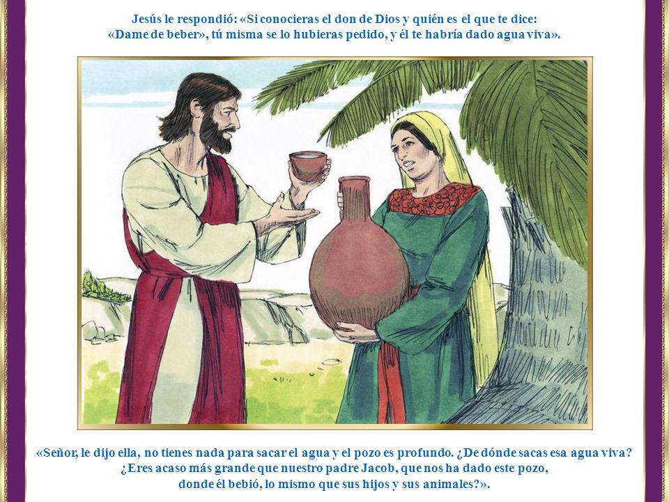 donde él bebió, lo mismo que sus hijos y sus animales ».