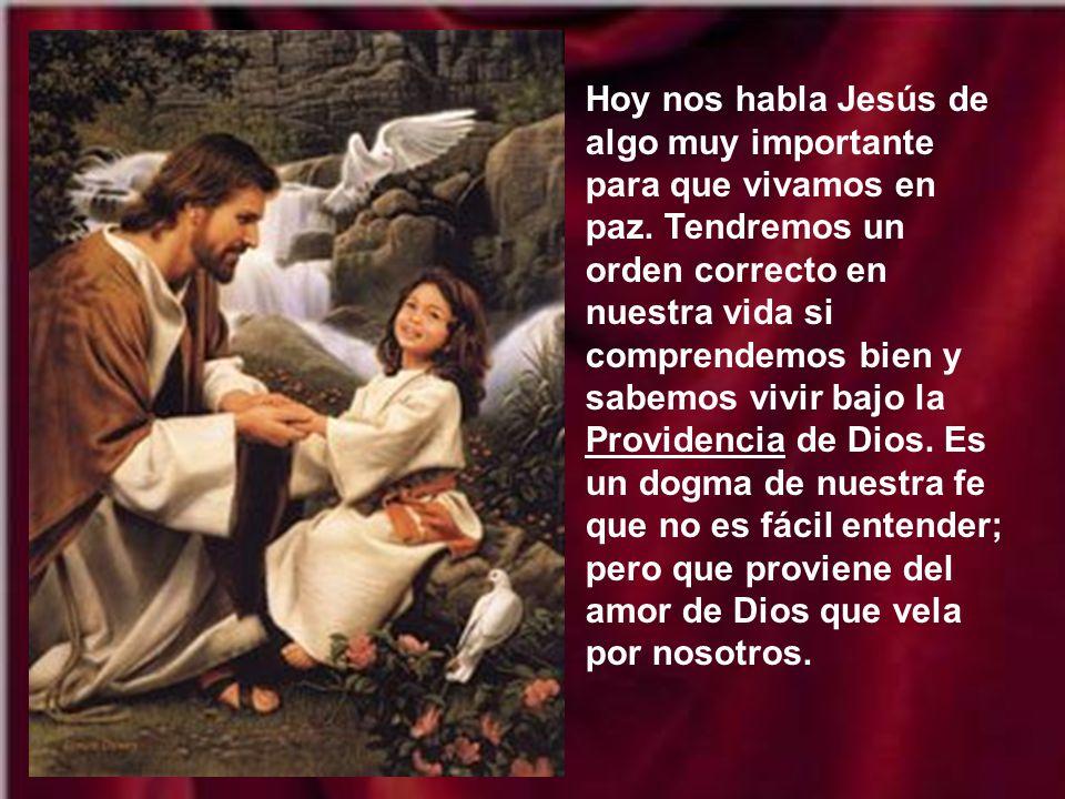 Hoy nos habla Jesús de algo muy importante para que vivamos en paz