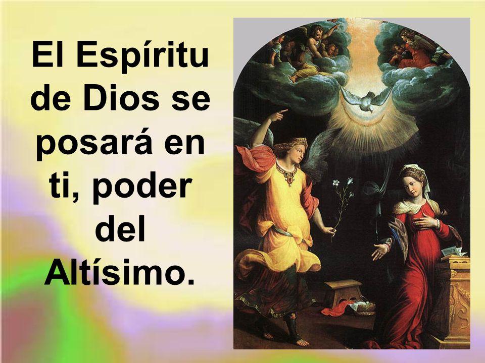 El Espíritu de Dios se posará en ti, poder del Altísimo.