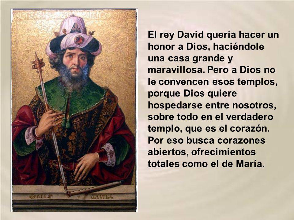 El rey David quería hacer un honor a Dios, haciéndole una casa grande y maravillosa.