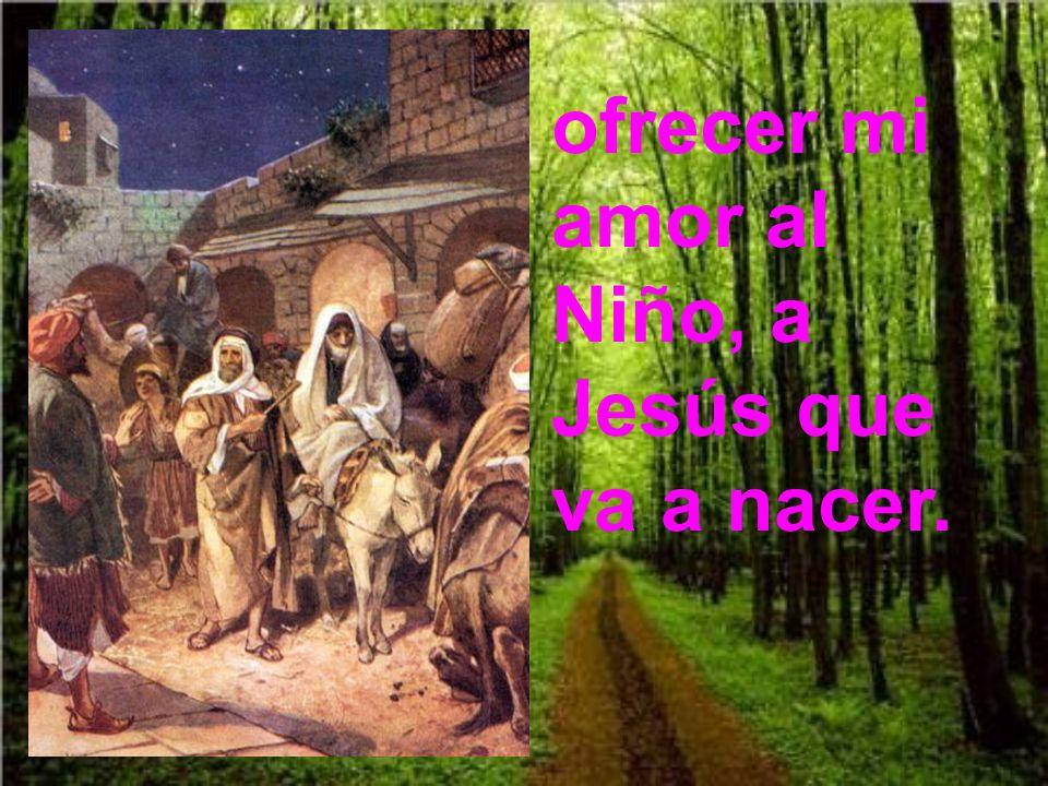 ofrecer mi amor al Niño, a Jesús que va a nacer.