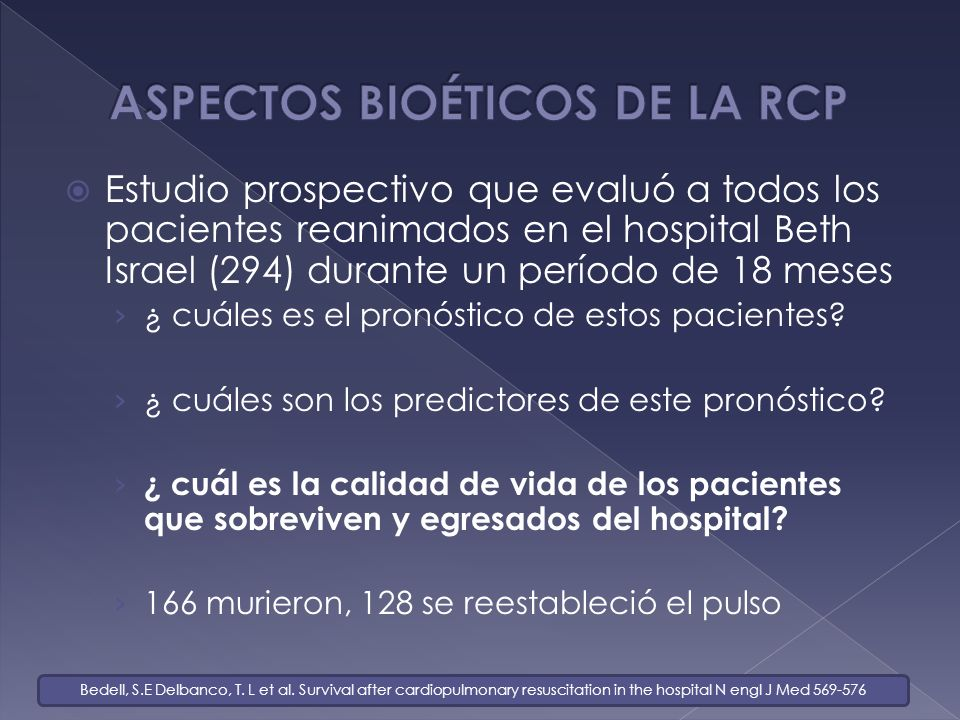 ASPECTOS BIOÉTICOS DE LA RCP