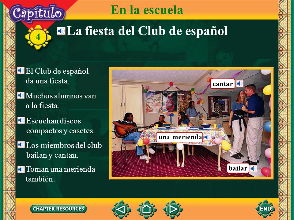 La fiesta del Club de español