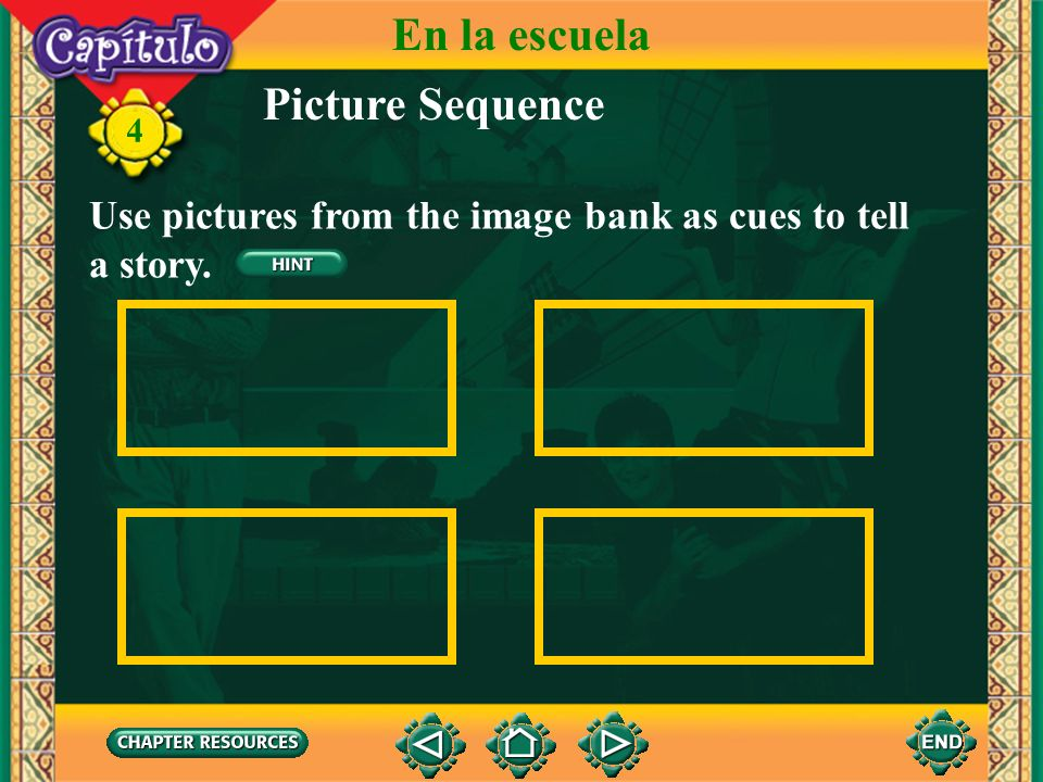 En la escuela Picture Sequence
