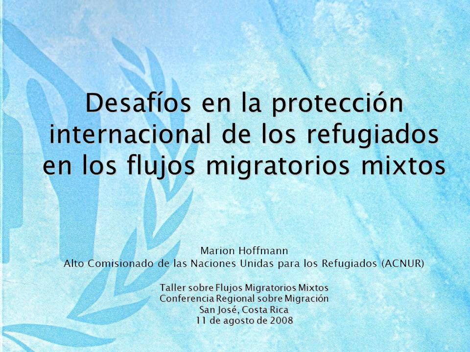 Desafíos en la protección internacional de los refugiados en los flujos migratorios mixtos