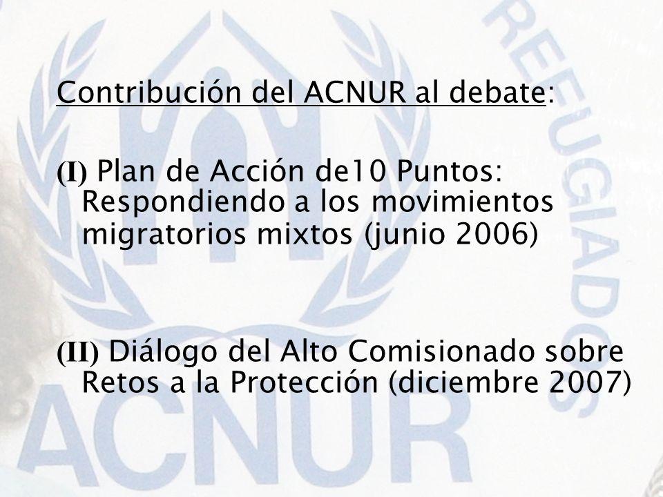 Contribución del ACNUR al debate:
