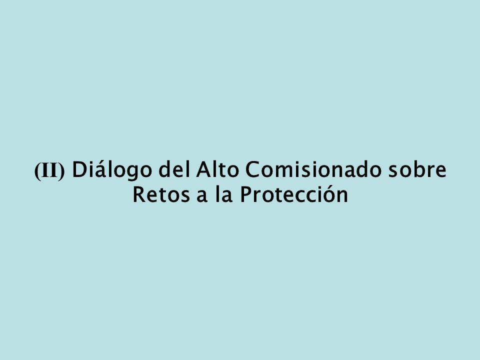 (II) Diálogo del Alto Comisionado sobre Retos a la Protección