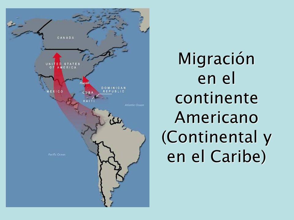 Migración en el continente Americano (Continental y en el Caribe)