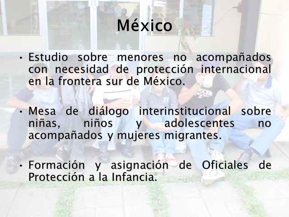 México Estudio sobre menores no acompañados con necesidad de protección internacional en la frontera sur de México.