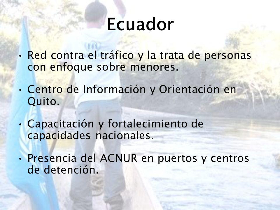 Ecuador Red contra el tráfico y la trata de personas con enfoque sobre menores. Centro de Información y Orientación en Quito.