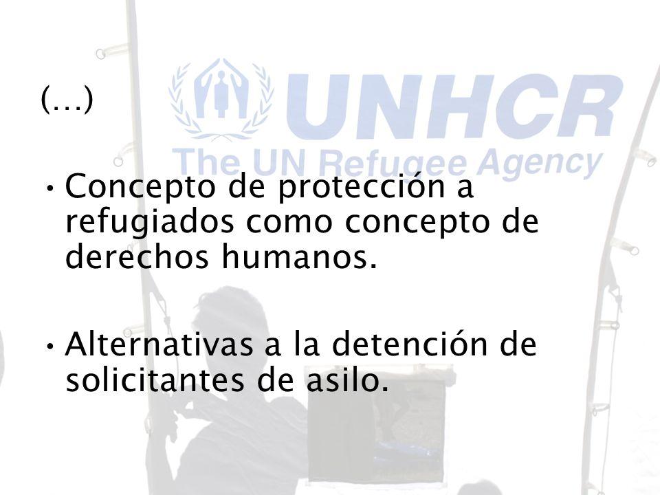 Concepto de protección a refugiados como concepto de derechos humanos.