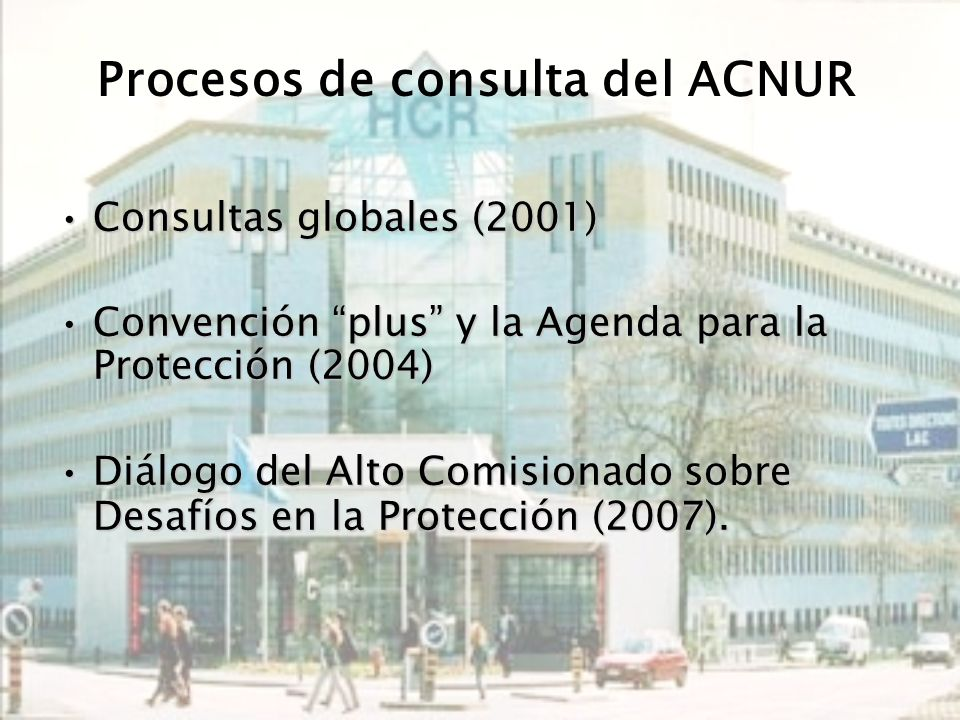 Procesos de consulta del ACNUR
